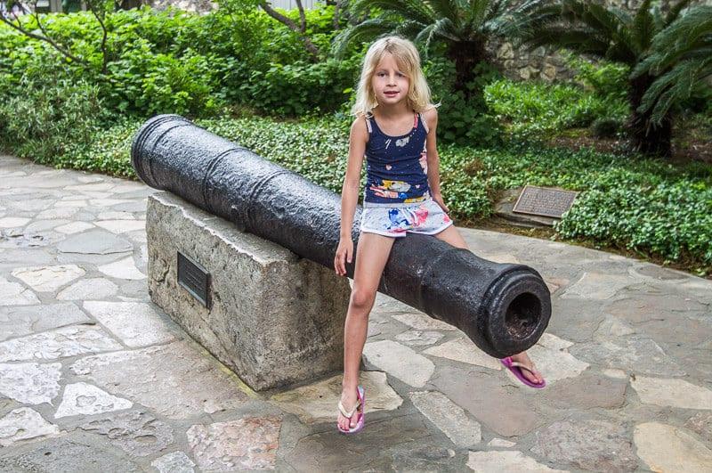 The Alamo with kids