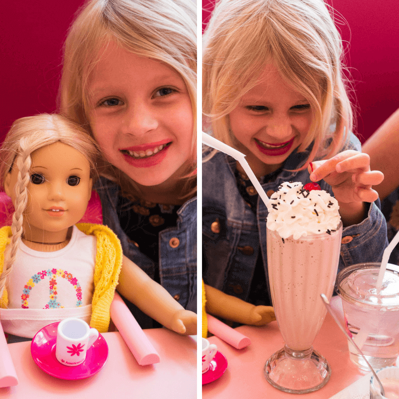 Yes, at the American Girl Doll store you can dine with your dolls. Click inside for more tips!