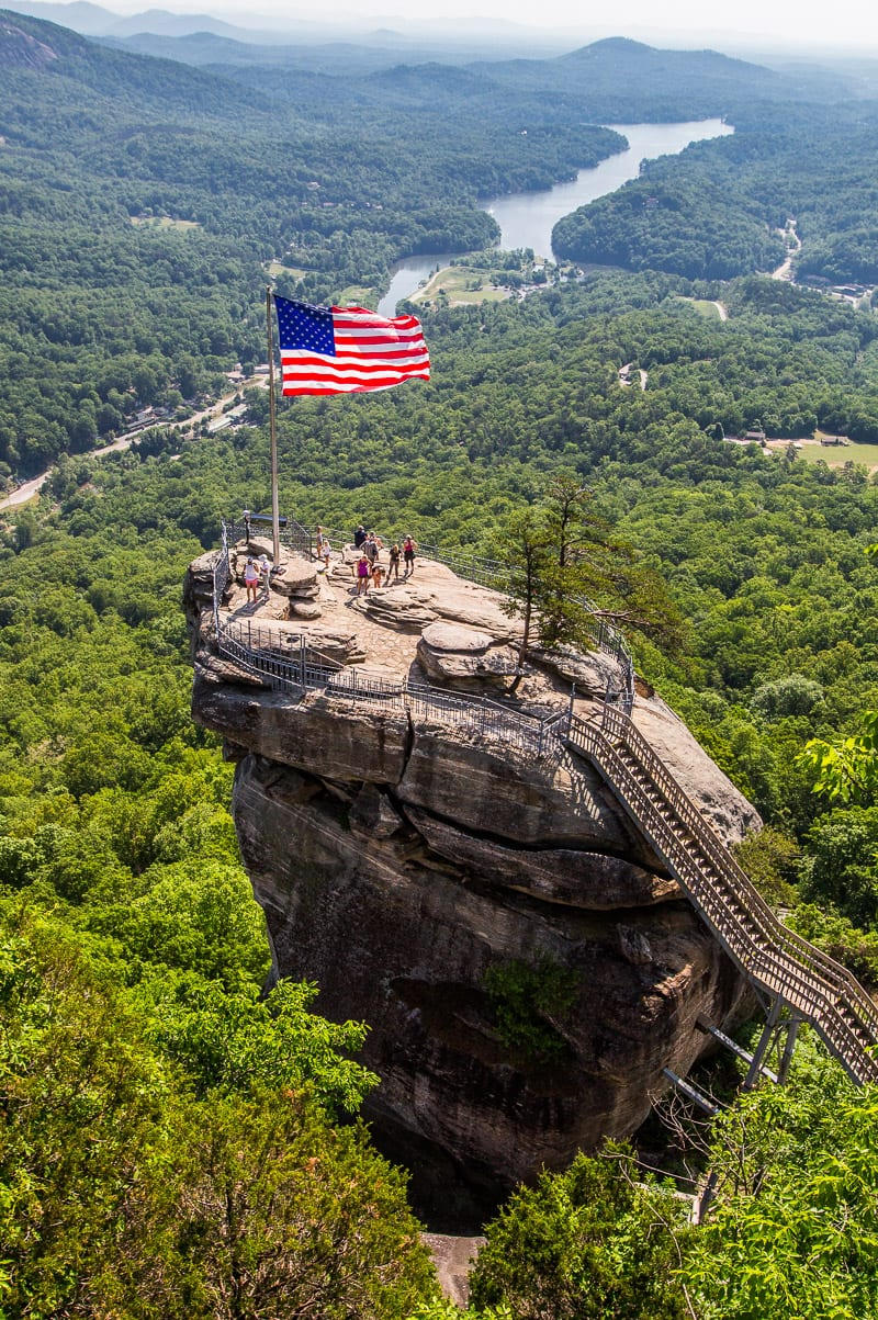 Chimney Rock hike, North Carolina