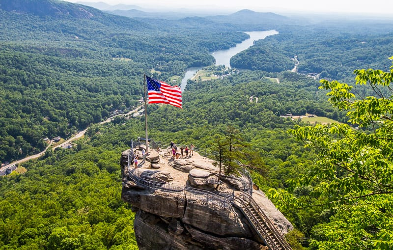 chimney rock state park hike nc