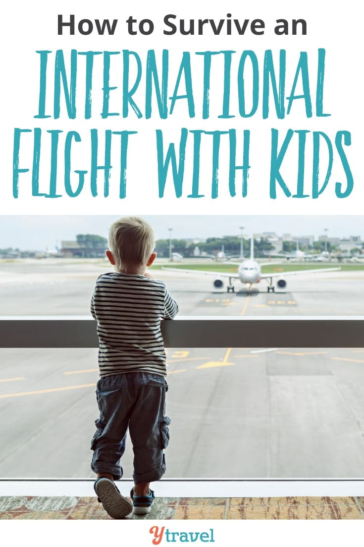 how to survive an international flight with kids. You may even learn to enjoy flying with kids. We love it and these flying tips help a lot. What would you add? Happy pinning