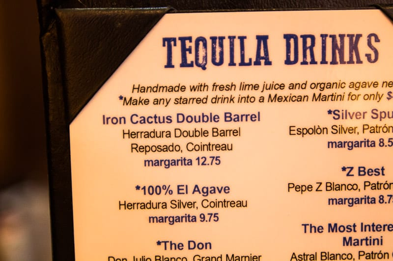 Tequilas at Iron Cactus