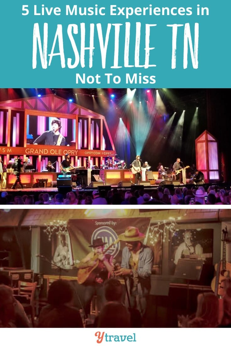 5 Live Music experiences not to miss in Nashville Tennessee. Nashville is not called the Music City for nothing. It's not just country music but lots of great singer songwriters and music genres. Click to discover the 5 best live music venues.