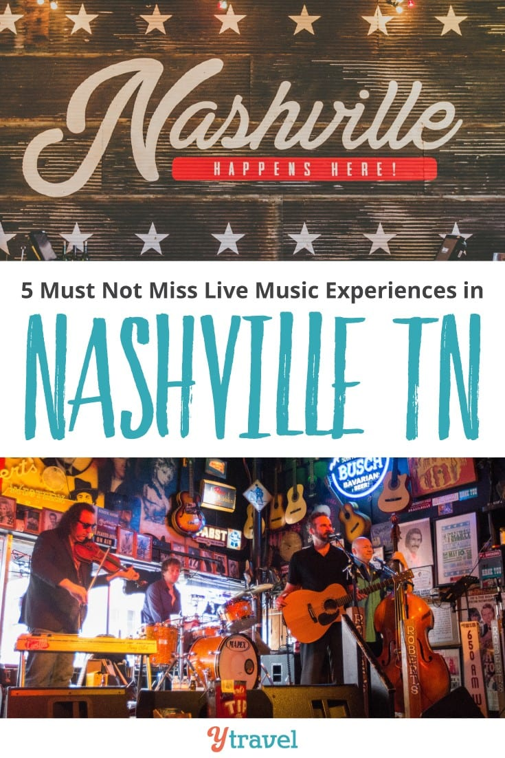 5 Must Not Miss live music experiences in Nashville TN. Check out the Grand Ole Opry, Bluebird Cafe and more for the best things to do in the Music City