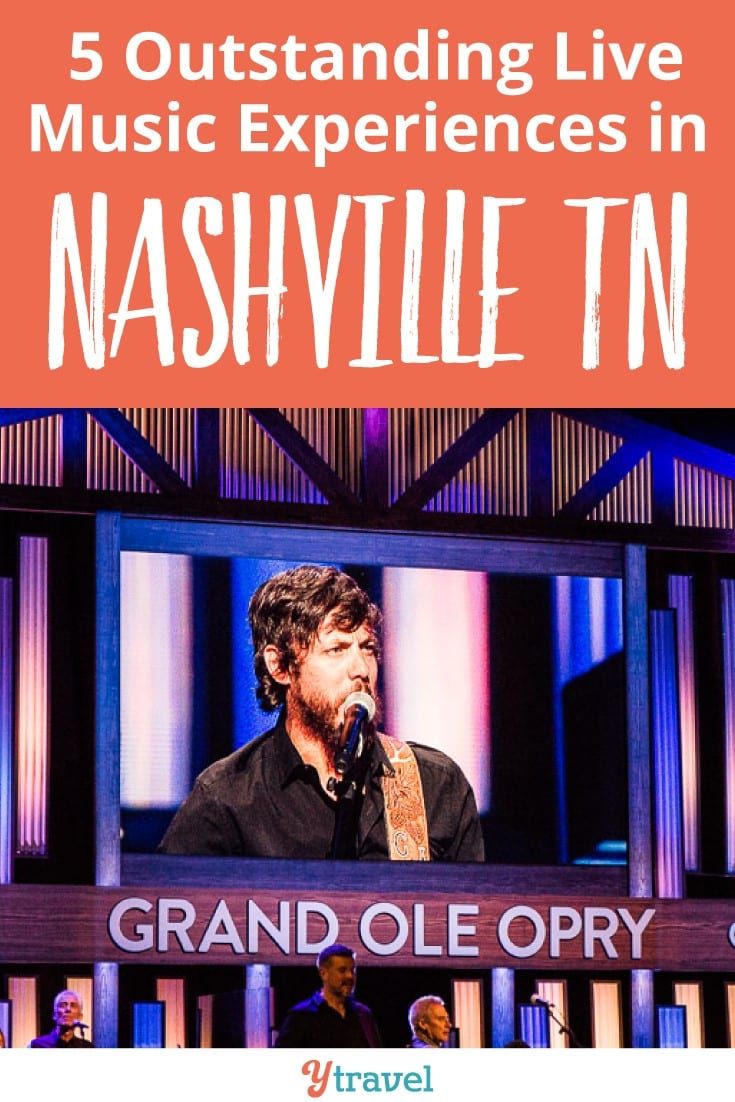 The 5 best live music experiences in Nashville Tennessee. One of my favorite things to do in Nashville is to follow the music story and see live music events. It's uplifting and inspiring. Click to read more