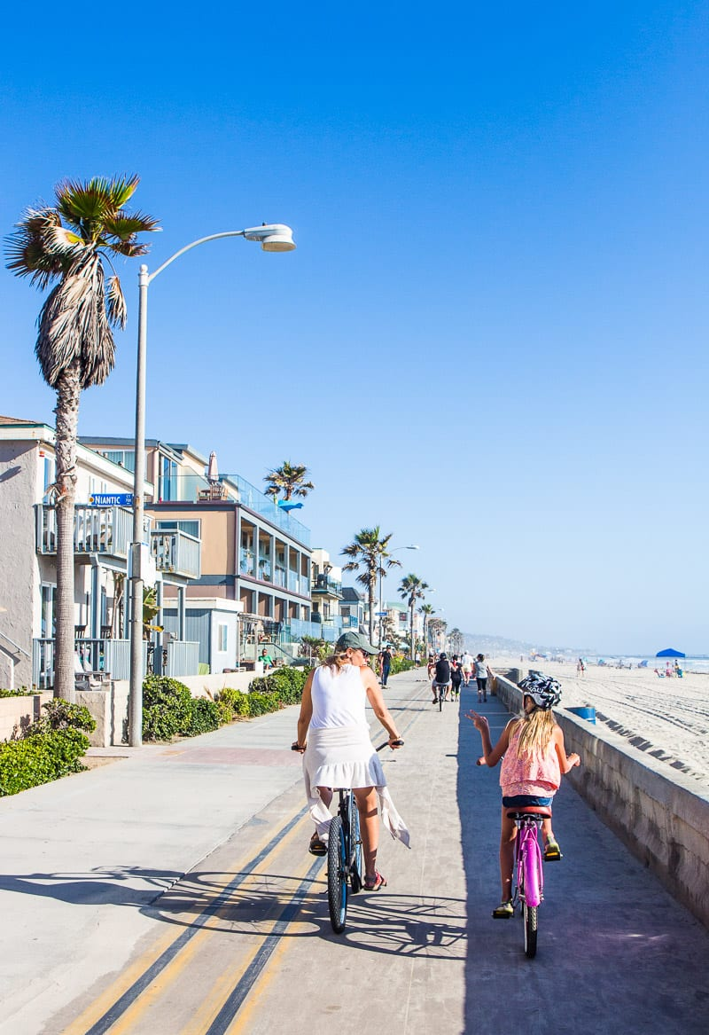 Pacific Beach, San Diego. Great place to ride a bike along the beach with kids.
