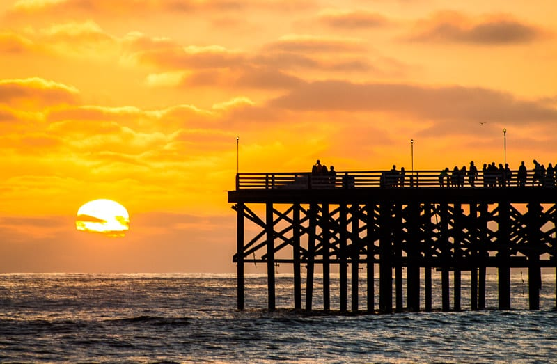 Sunset in San Diego - one of the best free things to do in San Diego with kids