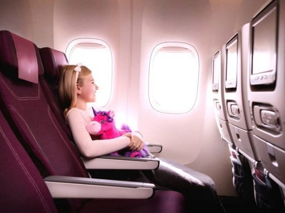 qatar airways comfort international flight with kids