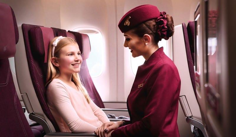 qatar airways international flight with kids