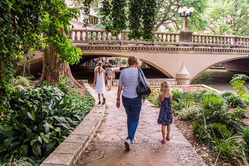 San Antonio River Walk with kids