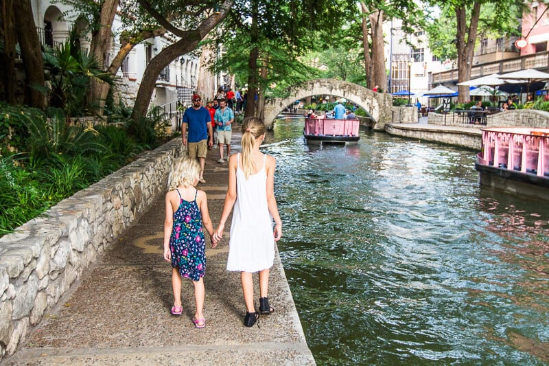 san-antonio river walk with kids