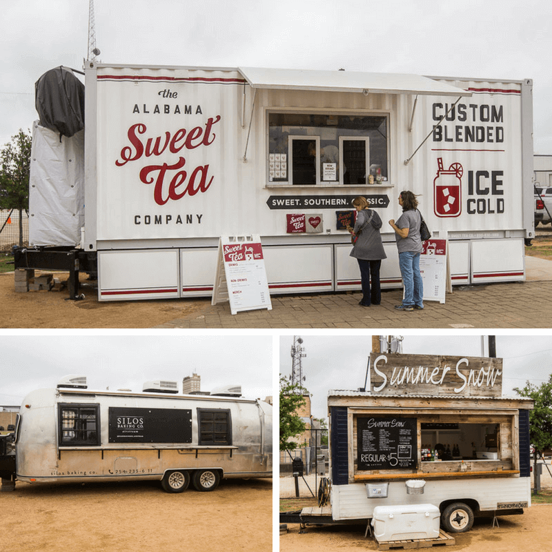 Food trucks at The Silos, Waco, Texas