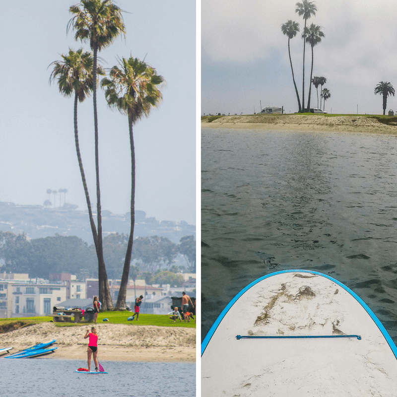 Stand up paddle boarding, San Diego, California
