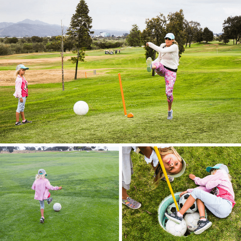 Foot golf at River Ridge Golf Club in Ventura