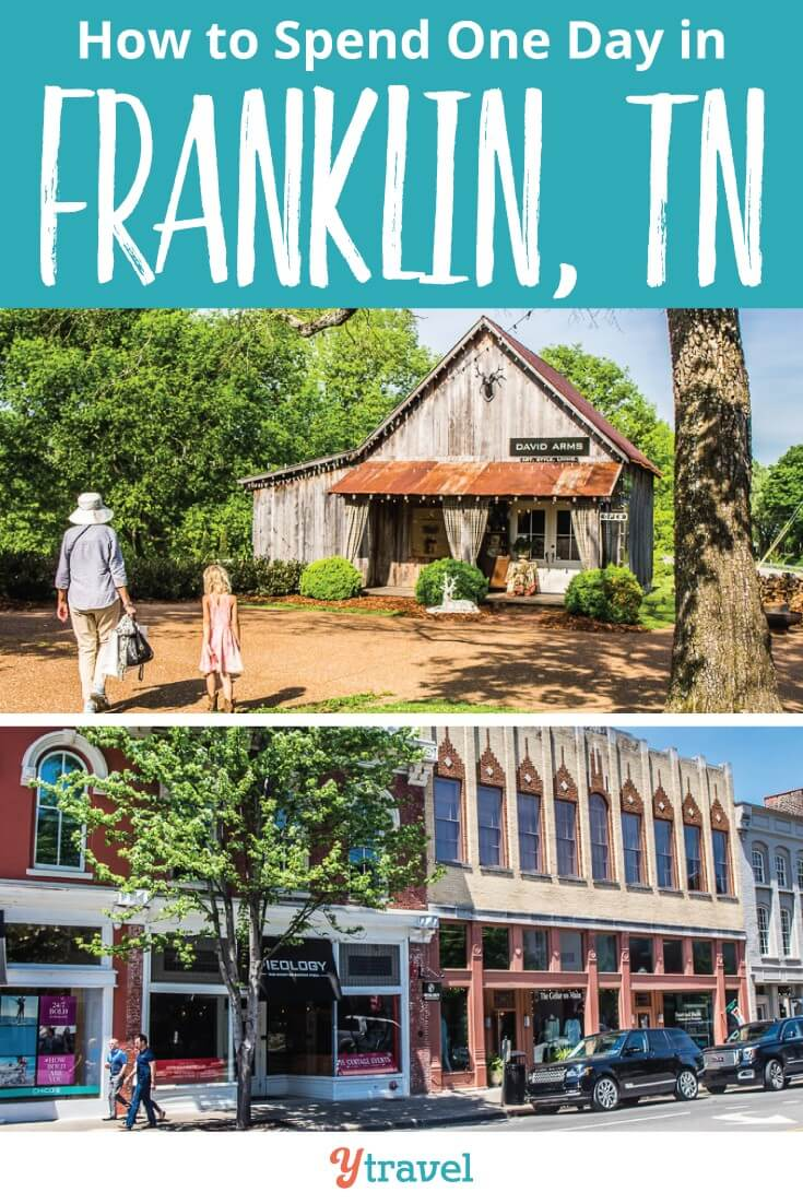 How to spend one day in Franklin tn. Franklin is a cute southern charm with boutique shopping - including a store for girls - good coffee, live music and fascinating Civil War History. Check out these top things to do in Franklin, Tennessee