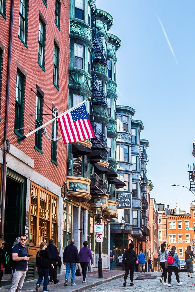 the historic North End neighborhood in Boston