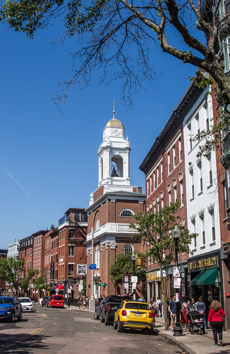 The historic North End neighborhood in Boston