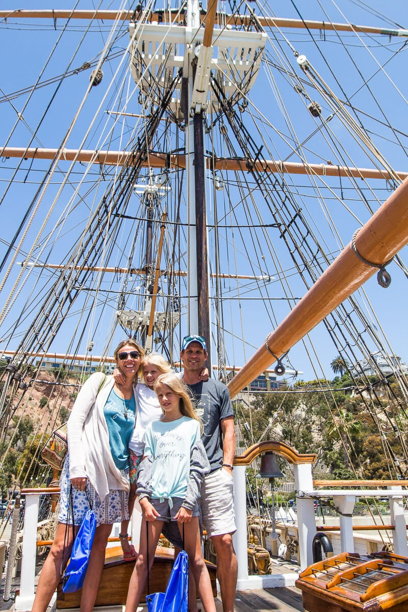 Pilgrim tall ship at Ocean Institute Dana Point