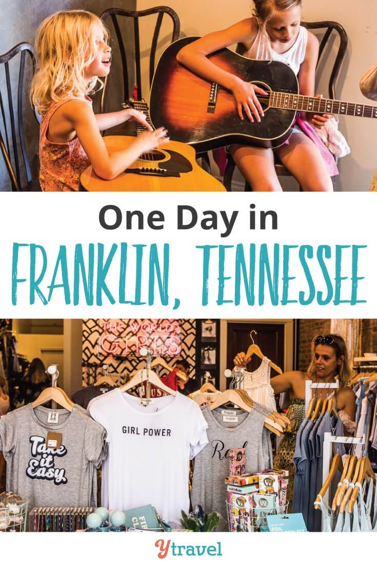 Things to do in Franklin TN. IT's a cute Southern Charm with plenty of fun things to do including Civil WAr Tour, boutique shopping, live music, and good food and coffee. Happy Pinning