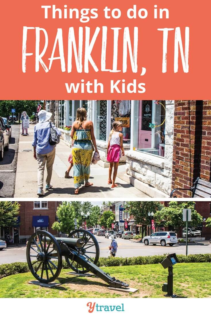 Top things to do in Franklin TN with kids. If you have girls they will love Magpies Boutique store. Mine also loved the Civil War history and the live music. Happy Pinning
