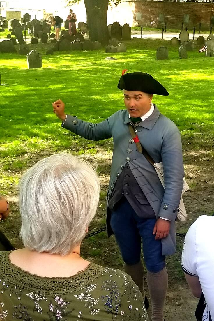 The Boston Freedom Trail walking tour with a guide is one of the best things to do in Boston