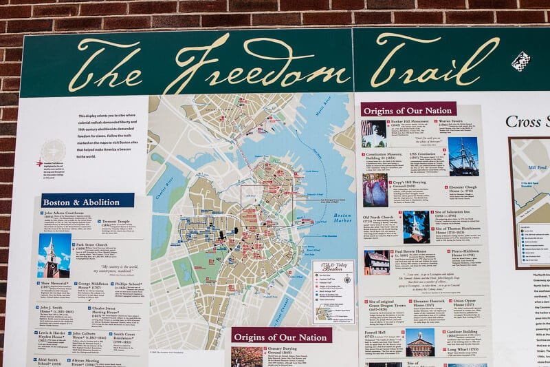 Boston Freedom Trail Tour Map