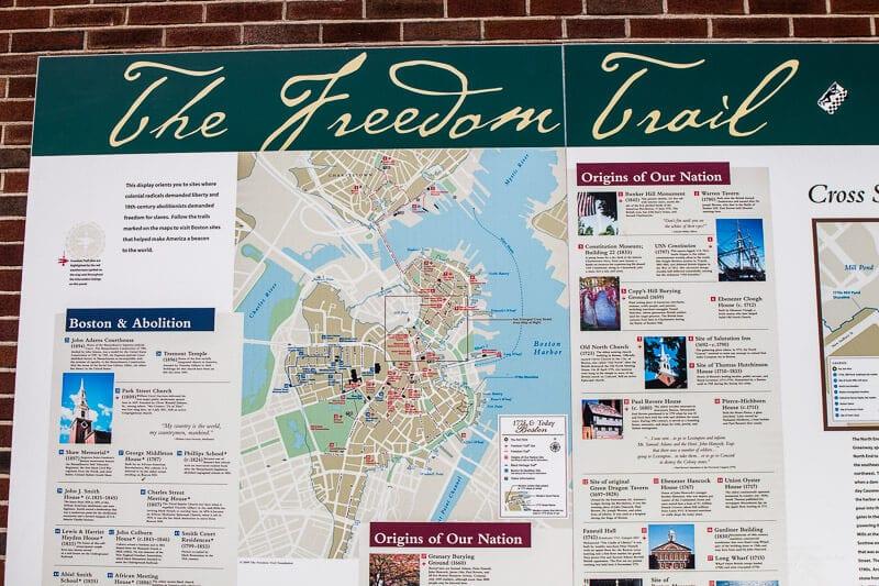 Boston Freedom Trail Tour Map
