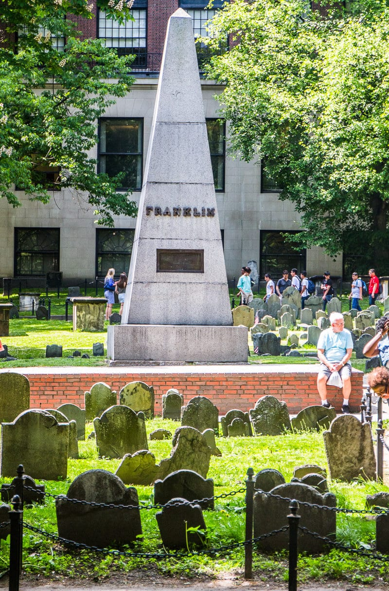 Granary Burying Ground - see this on a Boston Freedom Trail walking tour
