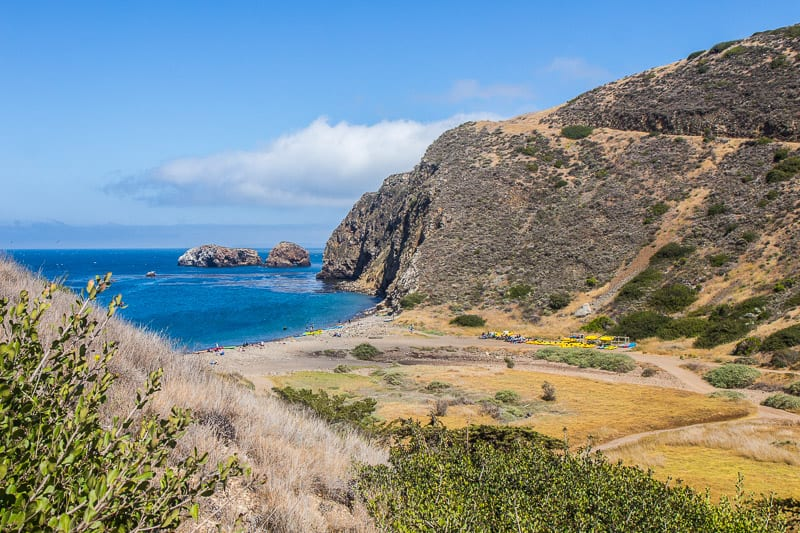 Hiking on Channel Islands National Park, California