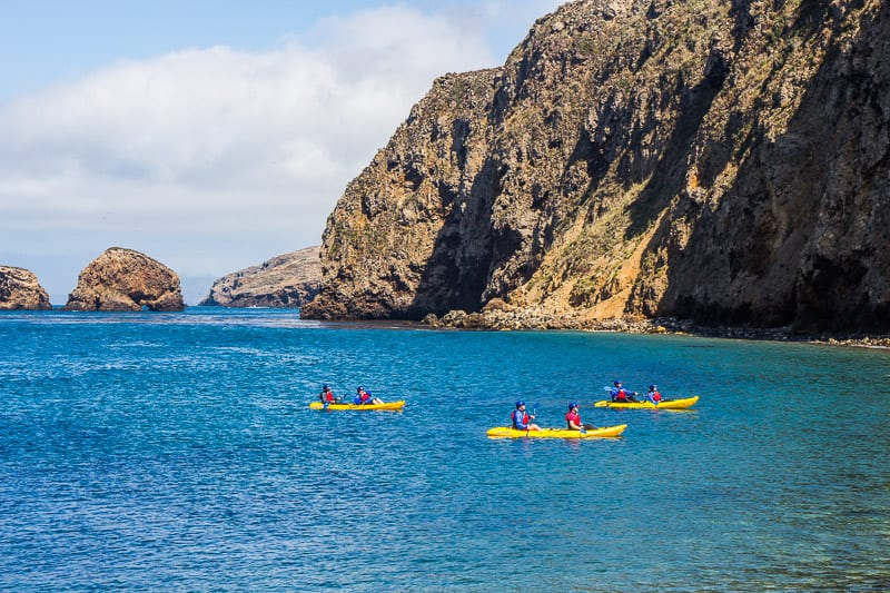 Kayaking at Channel Islands National Park, California