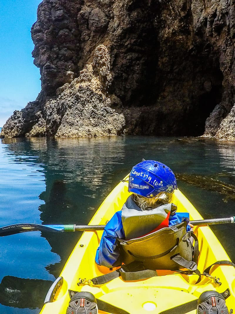 Kayaking in Channel Islands National Park, California
