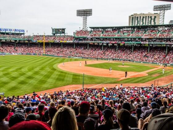 Watching the Boston Red Sox play at Fenway Park