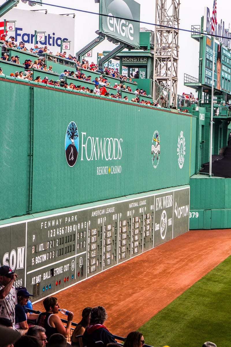 The Green Monster at Fenway Park - Is a Boston Red Sox baseball game at Fenway Park on your bucket list? Click inside to learn all about it with tips on getting there, getting tickets, where to eat, where to stay and much more!