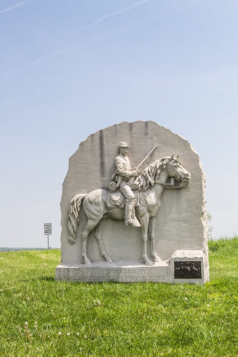 Monument on the Gettysburg Battlefields tour