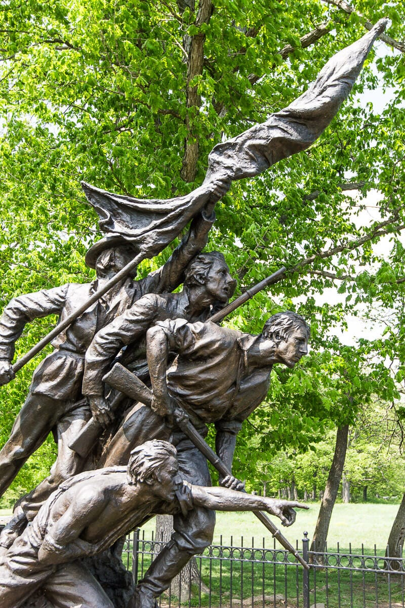 Gettysburg Battlefields Monument - this North Carolina monument can be seen on a tour of the National Military Park. Click inside for more details.