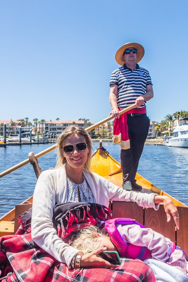 Enjoy a gondola ride in Ventura, California
