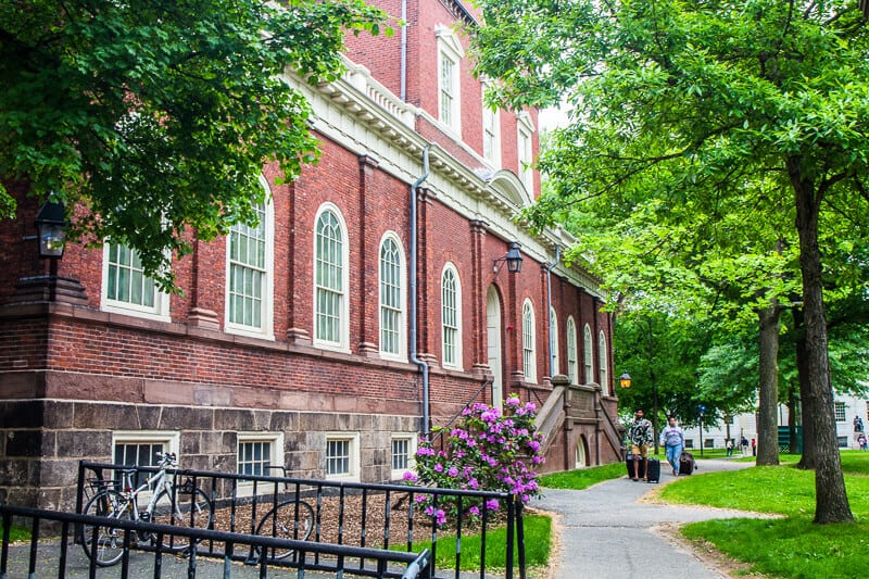 Harvard University campus tour in Boston, Massachusetts