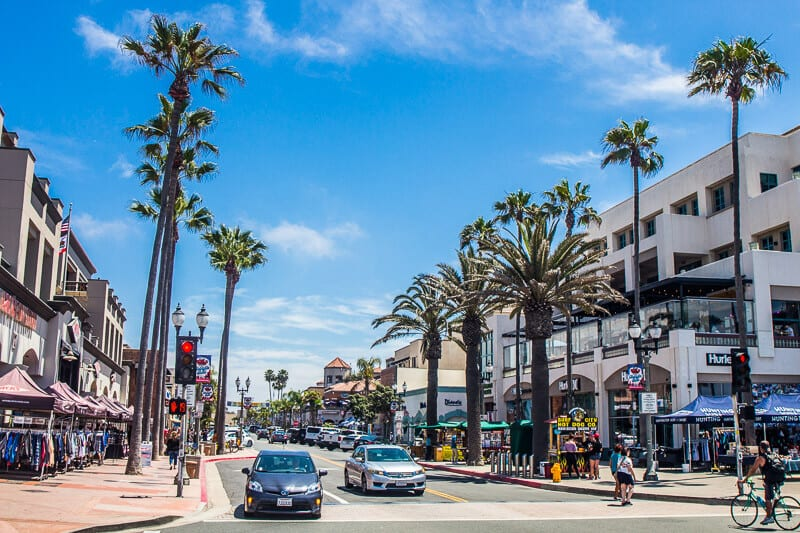 Downtown Huntington Beach, California