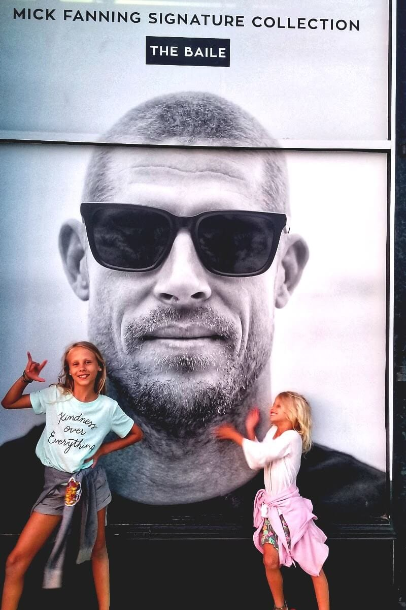 With Aussie surfing legend Mick Fanning in Huntington Beach, California