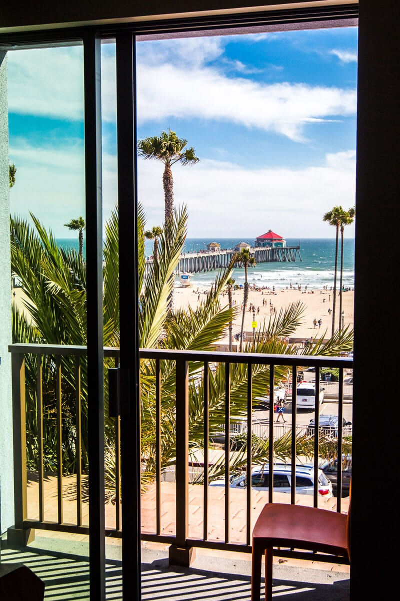 View of Huntington Beach from the Kimpton Shorebreak Resort, Huntington Beach