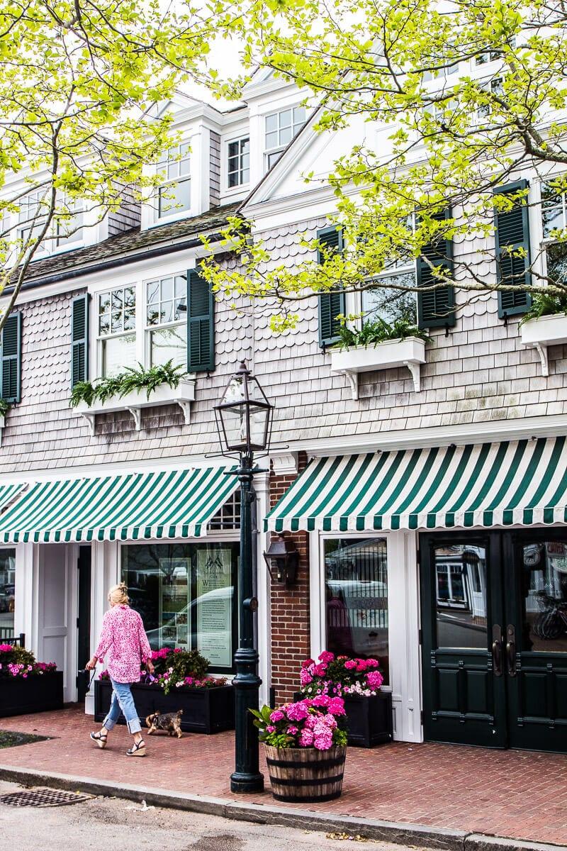 Belle ville d'Edgartown dans le vignoble de Martha, dans le Massachusetts