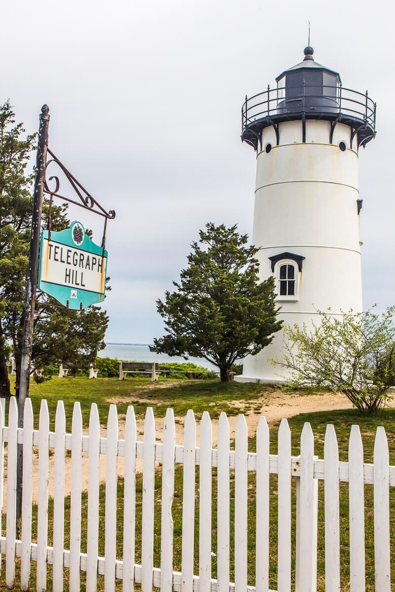 East Chop Lighthouse at Oak Bluffs in Martha's Vineyard
