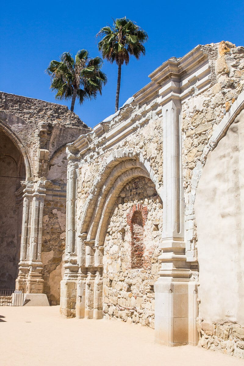 Mission San Juan Capistrano, Orange County, California. One of the best places to visit in California for history and culture