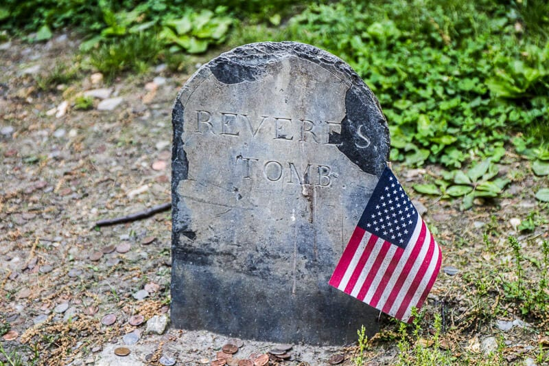 Paul Revere tombstone