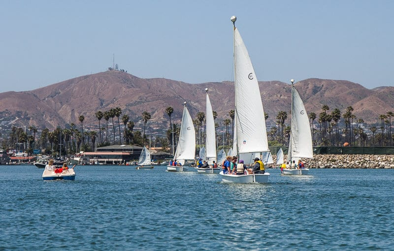 Pedal boat ride in Ventura Harbor, California