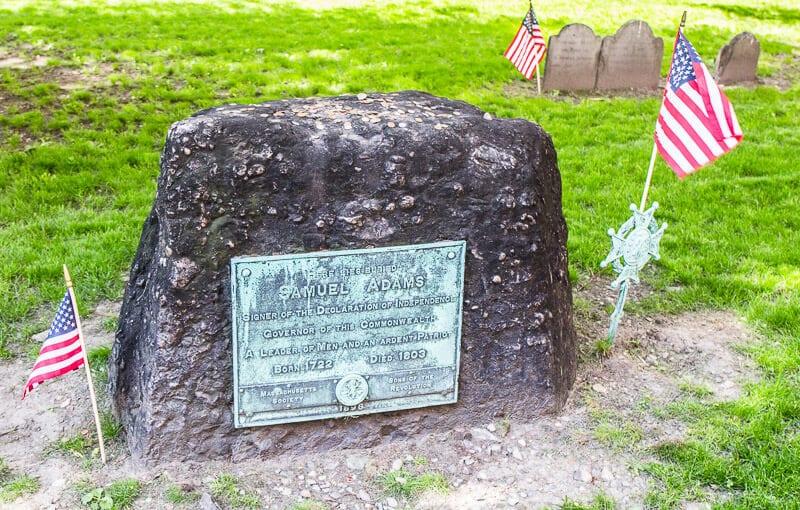Samuel Adams tomb in Boston