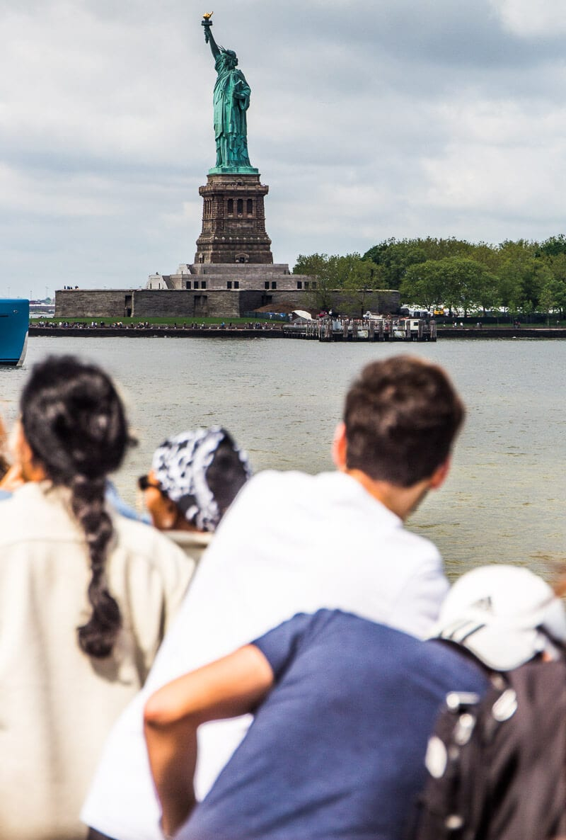 Statue of Liberty ferry - take the ferry to Liberty Island and do an audio tour, one of the best things to do in NYC