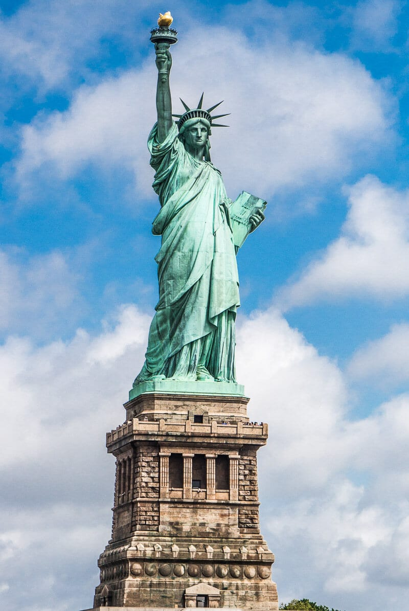 Statue of Liberty - don't miss doing an audio tour of Liberty Island and Ellis Island