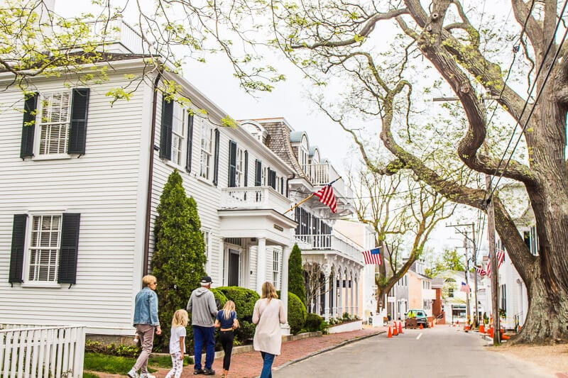 Beautiful town of Edgartown on Martha's Vineyard, Massachusetts