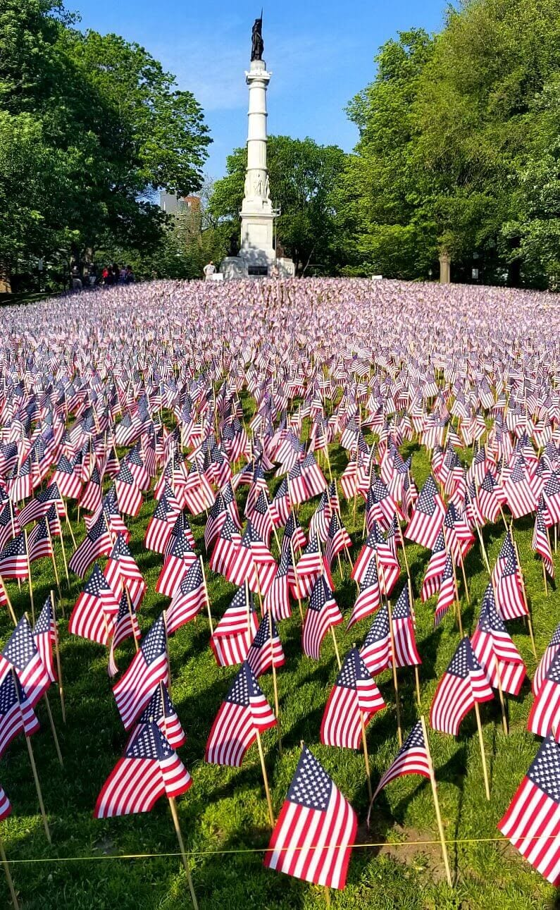 Boston Common on Memorial Day